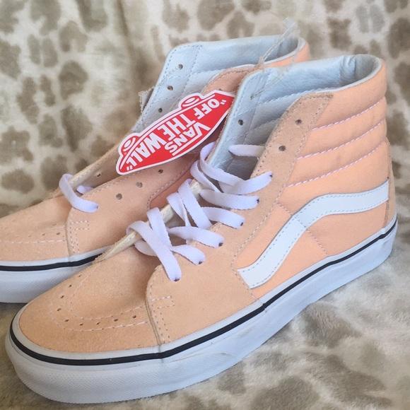 Vans Peach Hi Tops   Poshmark